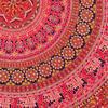 "80"" Red Roundie Beach Throw Picnic Mat Spread Hippie Mandala Tapestry Boho Bohemian 6"