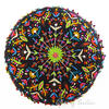 "Black Boho Embroidered Round Bohemian Colorful Floor Seating Meditation Pillow Cushion Throw Cover - 24"" 3"