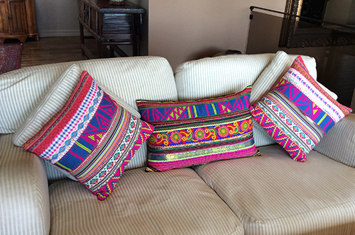 Colorful Pillows at Eyes of India