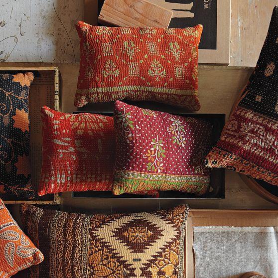 Image result for kantha pillows