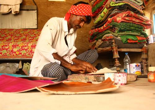 Leather Craft Artisans in Hodka Village, Gujarat