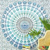 White Boho Mandala Tapestry Bohemian Hippie Wall Hanging Bedspread- Large/Queen 3