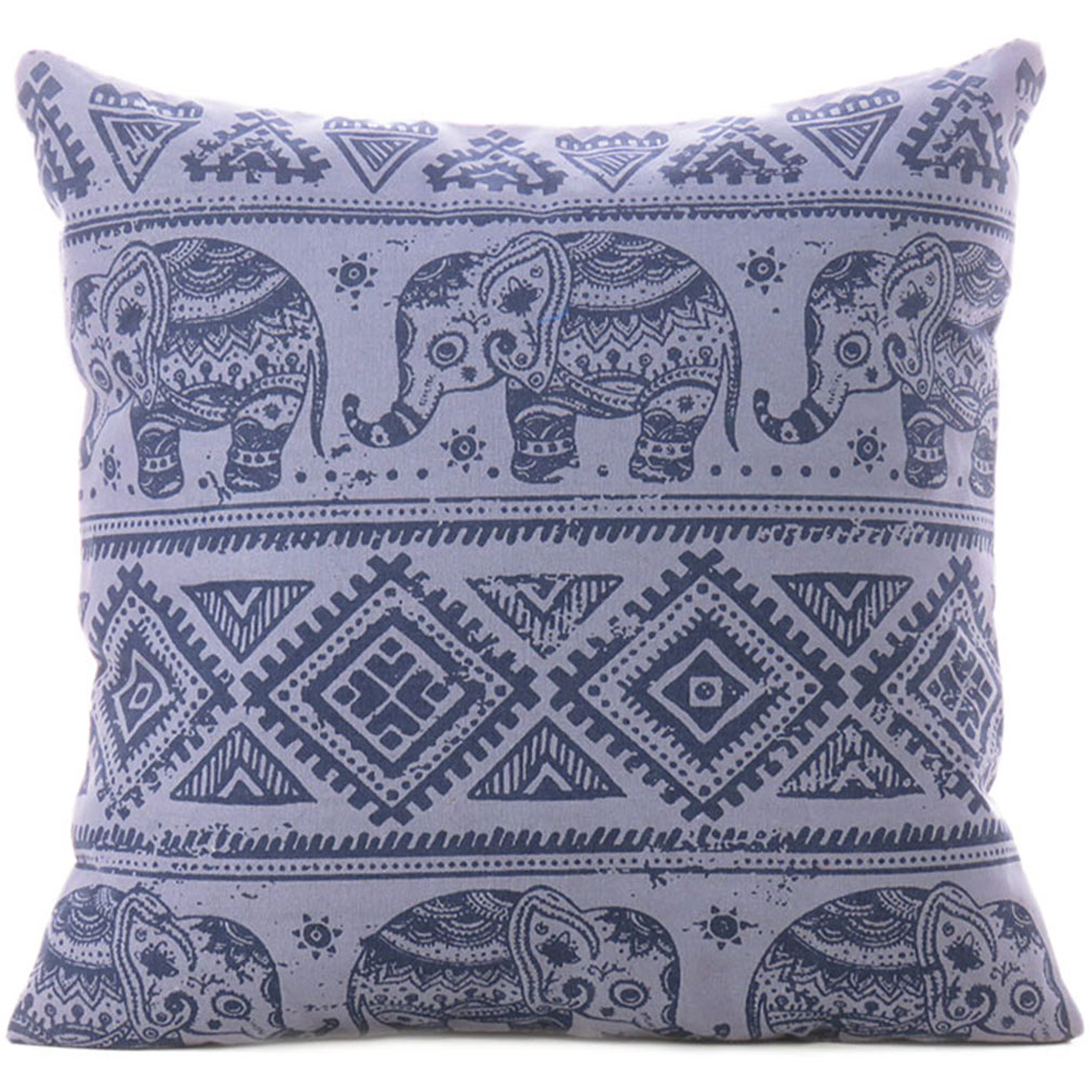 Awe Inspiring Gray Elephant Colorful Decorative Boho Sofa Throw Pillow Bohemian Couch Cushion Cover 18 Pdpeps Interior Chair Design Pdpepsorg