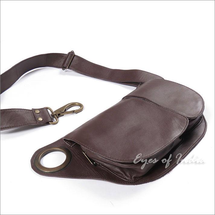Black or Brown Leather Hip Pocket Belt Bag Cross Body Waist Fanny Bum Travel  Pouch ( b345b3b1dfd37