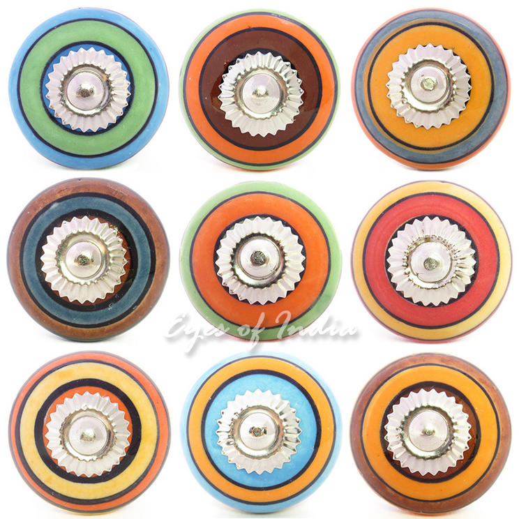 Colorful Decorative Shabby Chic Ceramic Dresser Cabinet Cupboard Door Knobs