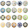 Yellow Green and Blue Ceramic Cupboard Cabinet Dresser Door Knobs Pulls 1