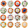 Orange Ceramic Cupboard Cabinet Door Dresser Decorative Shabby Chic Knobs 1