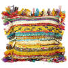"Yellow Chindi Colorful Decorative Boho Rag Rug Bohemian Sofa Throw Pillow Couch Cushion Cover - 12"" 1"