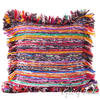 "Blue Chindi Colorful Decorative Boho Rag Rug Bohemian Sofa Throw Pillow Couch Cushion Cover - 20"" 1"