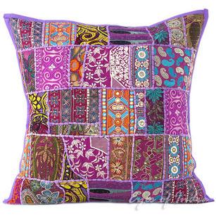 "Purple Decorative Bohemian Boho Pillow Couch Sofa Cushion Throw Cover - 24"""