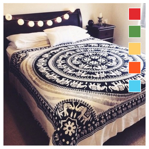Colorful Hippie Mandala Boho Elephant Tapestry Bedspread Wall Hanging - Queen/Double