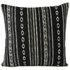 "Black White Striped Dhurrie Colorful Decorative Couch Cushion Boho Sofa Throw Pillow Cover - 16, 24"" 1"
