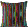 "Black Pink Striped Dhurrie Colorful Decorative Boho Couch Cushion Sofa Throw Pillow Cover - 16, 24"" 1"