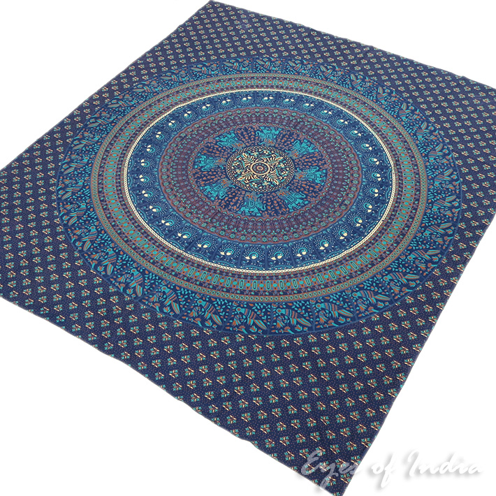 Hippie Boho Elephant Mandala Tapestry Indian Wall Hanging Bedspread - Large/Queen