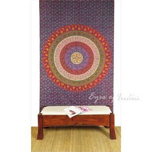 Bohemian Mandala Elephant Tapestry Hippie Boho Wall Hanging Bedspread - Small/Twin