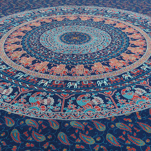 Bohemian Mandala Hippie Tapestry Boho Wall Hanging Indian Bedspread - Twin/Single