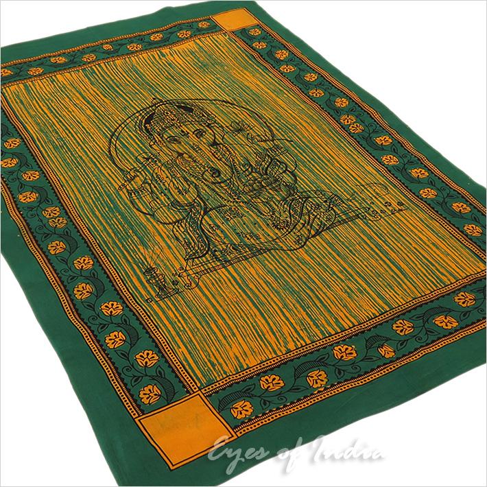 Batik Ganesha Elephant Tapestry Hippie Boho Wall Hanging Bedspread - Small/Twin