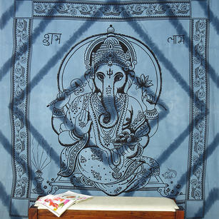 Mandala Hippie Ganesha Tapestry Boho Bohemian Wall Hanging Bedspread - Large/Queen