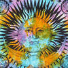 Colorful Tie Dye Hippie Sun and Moon Bohemian Boho Tapestry Hanging - Large/Queen 1