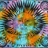 Colorful Tie Dye Hippie Sun and Moon Bohemian Boho Tapestry Hanging - Large/Queen 3