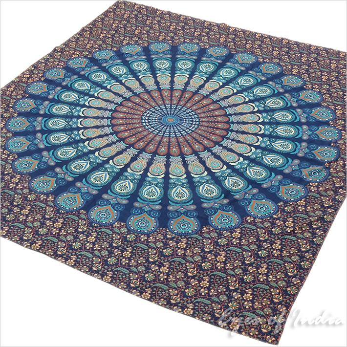 Bohemian Mandala Tapestry Wall Hanging Boho Hippie Bedspread - Queen/Double