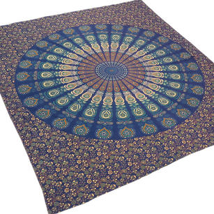 Bohemian Mandala Tapestry Wall Hanging Boho Hippie Bedspread - Queen/Double