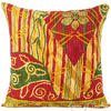 Colorful Kantha Decorative Throw Pillow Bohemian Boho Couch Cushion Cover - 18""