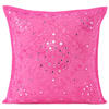 "Pink Mirror Embroidered Sofa Colorful Decorative Throw Couch Pillow Bohemian Cushion Cover - 16 to 24"" 1"
