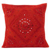 """Red Mirror Colorful Decorative Embroidered Sofa Throw Couch Pillow Bohemian Cushion Cover - 16 to 24"""" 1"""
