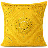 "Yellow Mirror Colorful Decorative Embroidered Sofa Throw Couch Pillow Bohemian Cushion Cover - 16 to 24"" 1"