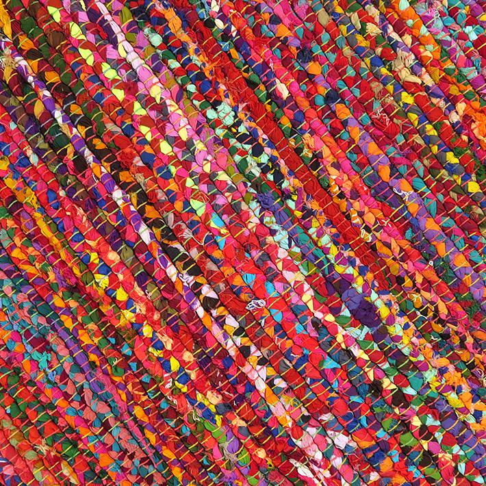 Bright Rag Rug Mix Of Colors Amp Fabrics Chindi Rag Rugs