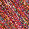 Bright Colorful Decorative Chindi Bohemian Boho Rag Rug - 2 X 3 ft, 3 X 5 ft 5