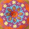 "Purple Boho Suzani Decorative Floor Pillow Meditation Cushion Bohemian Seating Cover - 24"" 6"