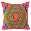 """Pink and Green Swati Colorful Decorative Couch Sofa Cushion Throw Pillow Cover - 16"""" 1"""
