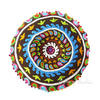 """Brown Round Decorative Seating Colorful Floor Cushion Boho Throw Meditation Pillow Pouf Cover - 24"""" 2"""