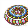 """Brown Round Decorative Seating Colorful Floor Cushion Boho Throw Meditation Pillow Pouf Cover - 24"""" 3"""