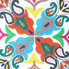 "White Round Colorful Boho Decorative Floor Seating Meditation Cushion Bohemian Pillow Cover - 24"" 5"