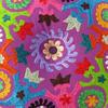 "Purple Round Bohemian Decorative Floor Meditation Cushion Pillow Boho Seating Cover - 24"" 6"