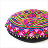 "Pink Boho Embroidered Decorative Seating Bohemian Round Floor Meditation Cushion Pillow Pouf Cover - 24"" 3"
