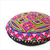 "Pink Boho Embroidered Decorative Seating Bohemian Round Floor Meditation Cushion Pillow Pouf Cover - 24"" 5"
