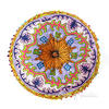 "Blue Round Bohemian Decorative Seating Booklore Meditation Cushion Pouf Pillow Throw Cover - 24"" 2"
