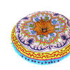 """Blue Round Bohemian Decorative Seating Booklore Meditation Cushion Pouf Pillow Throw Cover - 24"""" 1"""