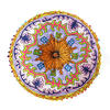 """Blue Round Bohemian Decorative Seating Booklore Meditation Cushion Pouf Pillow Throw Cover - 24"""" 4"""