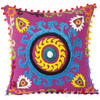 "Purple Colorful Decorative Embroidered Sofa Throw Bohemian Pillow Couch Cushion Cover - 16"" 1"