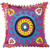 "Purple Blue Colorful Decorative Embroidered Sofa Throw Bohemian Pillow Couch Cushion Cover - 16"" 1"