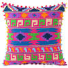 "Pink Embroidered Colorful Decorative Boho Sofa Throw Pillow Bohemian Couch Cushion Cover - 16"" 1"