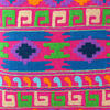 "Pink Embroidered Colorful Decorative Boho Sofa Throw Pillow Bohemian Couch Cushion Cover - 16"" 2"