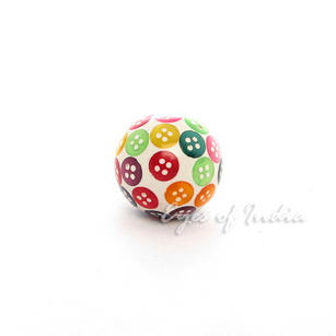 Colorful Dots Decorative Ceramic Cupboard Dresser Cabinet Door Knobs Pulls