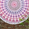"Mandala Roundie Beach Boho Picnic Spread Hippie Bohemian Tapestry - 80"""