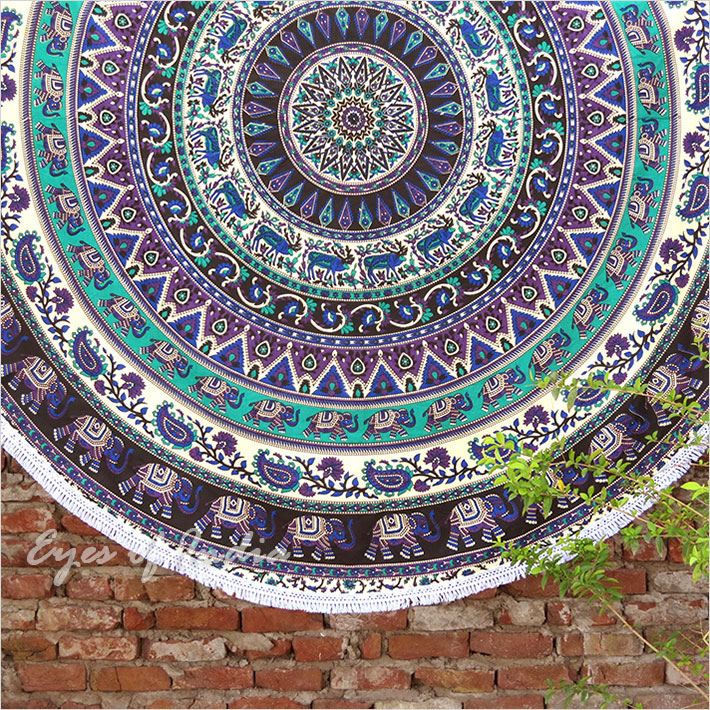 Vintage Round Tapestry Mandala Boho Hippie Tapestry Beach Mats Indian Towel Spare No Cost At Any Cost Smart Electronics